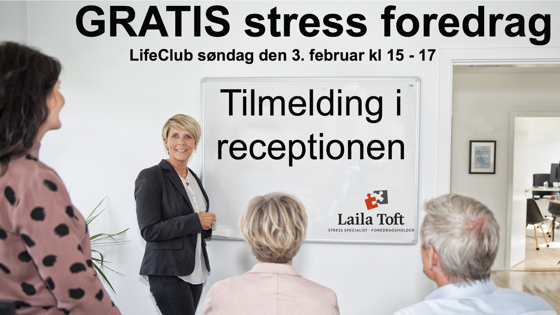 Gratis stress foredrag